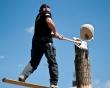 Ligna 2011 / Axt mit Holz