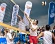 Beach Vollesball Starcup 2011 / Netz dunkel wieß
