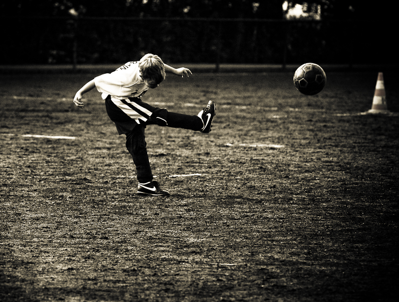 Fußball Schuss